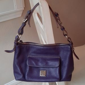 Dooney and Bourke purple hobo leather bag purse